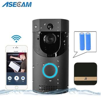 WIFI Security Doorbell IP65 Waterproof Video Door Chime 720P Wireless Intercom FIR Alarm IR Night Vision IP Camera PIR Detection