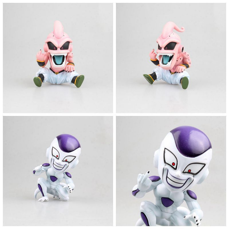 Dragon Ball Z Super Saiyan Kid Buu vertical Middle finger Ver PVC Figure Toys
