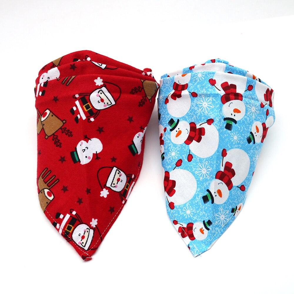 50pcs 크리스마스/겨울 개 고양이 bandanas 조정 가능한 두 가지 색상 삼각형 스카프 개 활 관계 애완 동물 의상 액세서리-에서강아지 액세사리부터 홈 & 가든 의  그룹 1