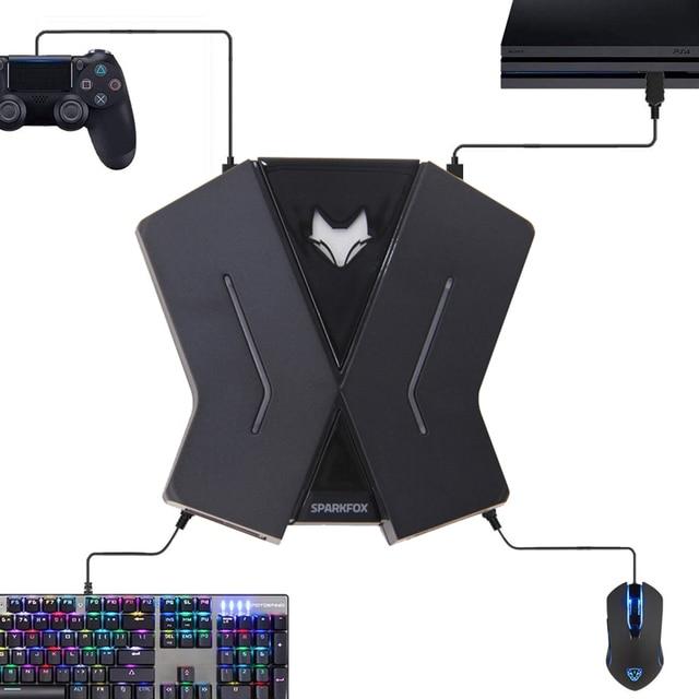 PS4 Xbox One スイッチ PS3 PC マウスキーボードコンバータゲームパッドアダプタコントローラアダプタ呼吸 Led ライト FPS TPS RPG ゲームアクセサリー