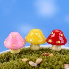 10pcs mushroom miniature fairy garden home houses decoration