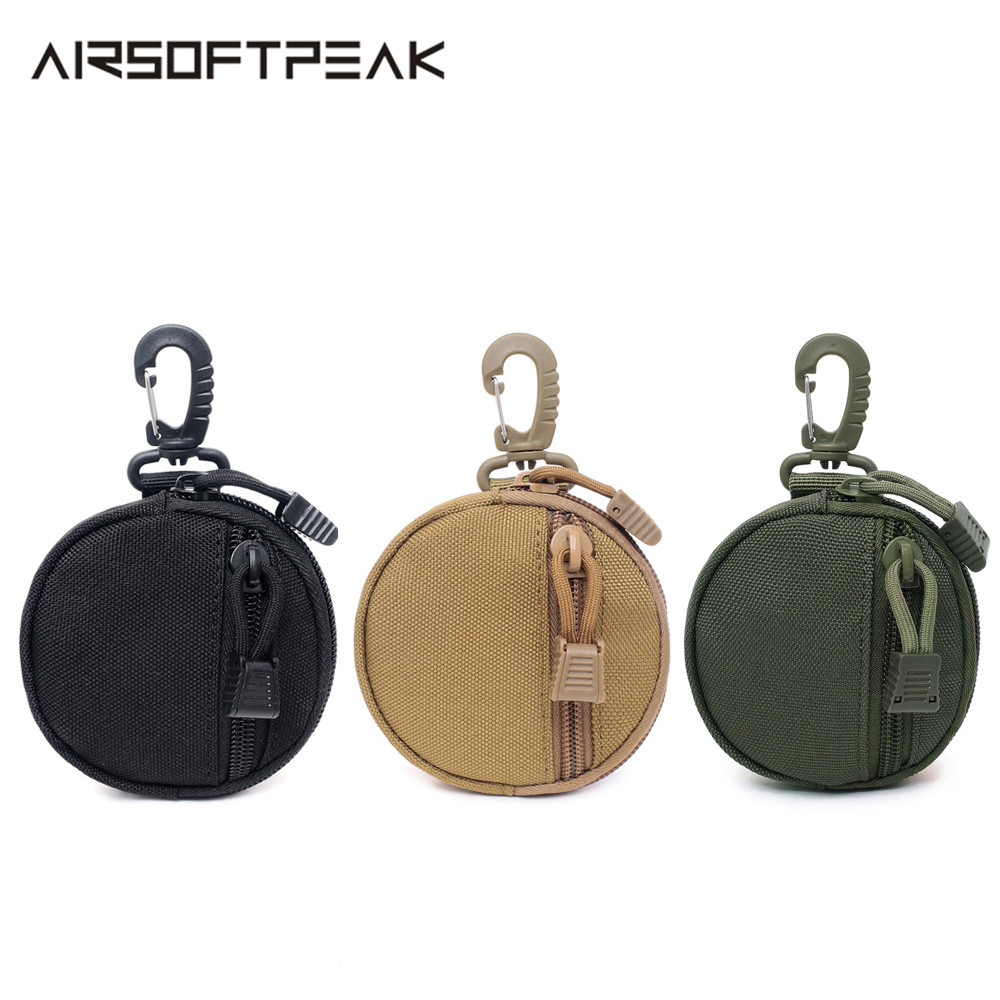 Tactical Molle Pouch EDC Key Coin Bag Hunting Accessories Earphone Wallet Holder Case Bags Attachable On Belt Backpack Outdoor