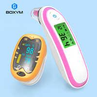 BOXYM bébé oreille fièvre thermomètre et infrarouge doigt oxymètre de pouls enfants pédiatrique oximetro SpO2 compteur de Saturation pour les enfants
