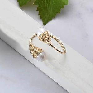 Image 4 - YKNRBPH Womens Natural pearl Ring Adjustable light luxury Versatile Temperament 14k HandWound Jewelry Ring