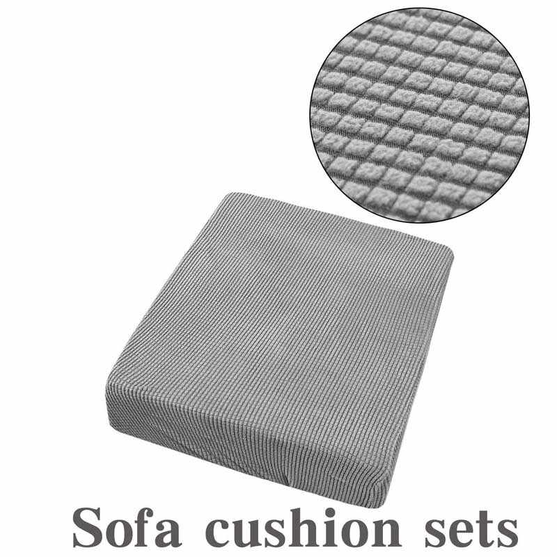 1/2/3/4 Stretch Sofa Seat Cushion Cover Polar Fleece Chair Slipcover Pet Dogs Mattress Furniture Protector
