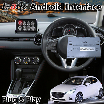 Lsailt Android Multimedia Video Interface for Mazda 2 MZD System 2014-2020 Model , Car GPS Navigation for Mazda2 image
