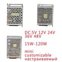 YK MINI 30W 100W 120WSMPS Power Supply Switching Transformer 220V To 5V 12V 24V 36V 48V AC DC Customizable Power Source Supply mini switching power supply mdr 100 2a 48v 100w din rail power supply ac dc driver voltage regulator power suply 110v 220v