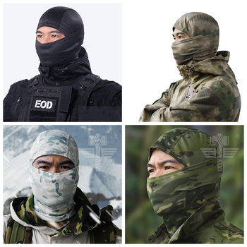 Military cp balaclava full face mask cycling neck head warmer cs wargame hunting ski sports scarf tactical men camo bandana