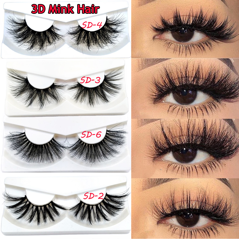 2020 Lightweight Cruelty-free 3D Faxu Mink False Eyelashes Ultra-wispies Criss-cross Fluffy Eyelashes Handmade Natural Lashes