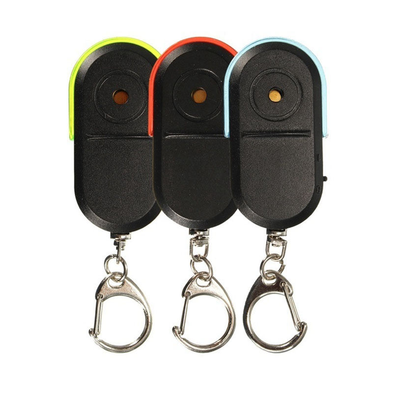 ABKT-Wireless Anti-Lost Alarm Key Finder Locator Keychain Whistle Sound Led Light
