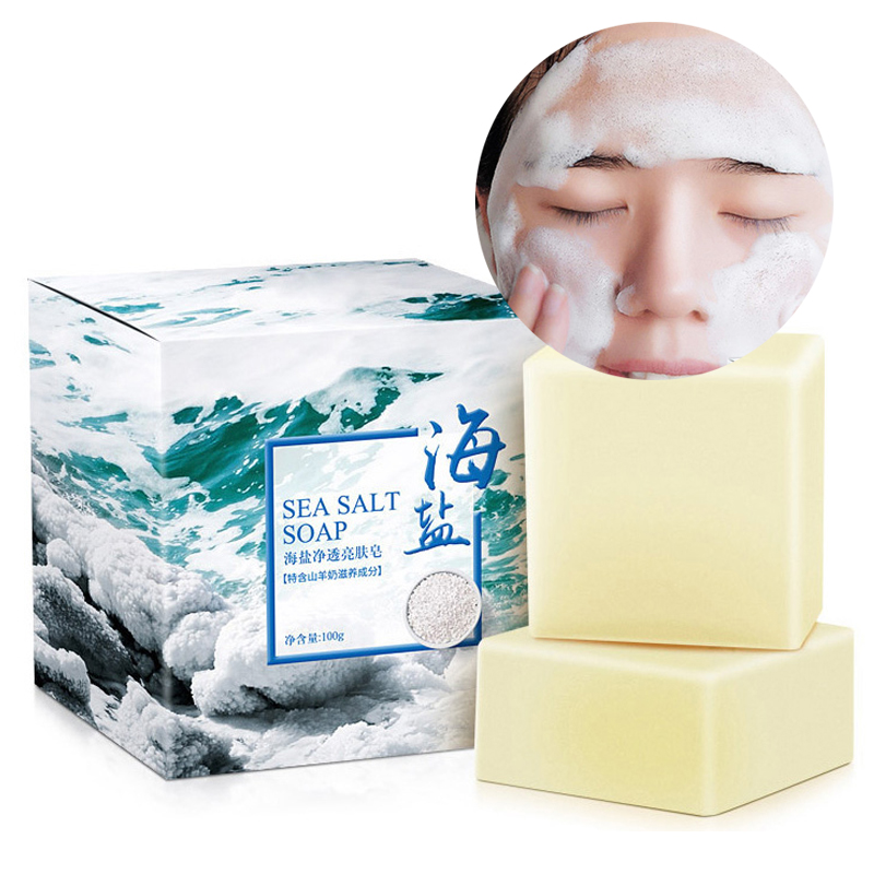 100g Skin Whitening Moisturizing Wash Face Soap Cleaner Deep Cleaning Removal Pimple Pores Oil Control Acne Treatment Face Care image