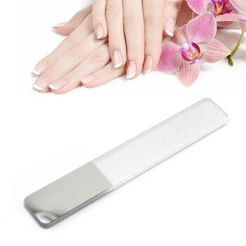Professional Nano Glass Nail File Buffer Block Shiner Manicure Nail Art Nail Polish Nails Accessories Nail Files With Case Hot Health & Beauty