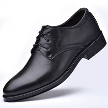 Fashion Dress Shoes Men's Leather Oxford Shoes for Men Lace Up Business Formal Male Shoes Men Wedding Shoes(China)