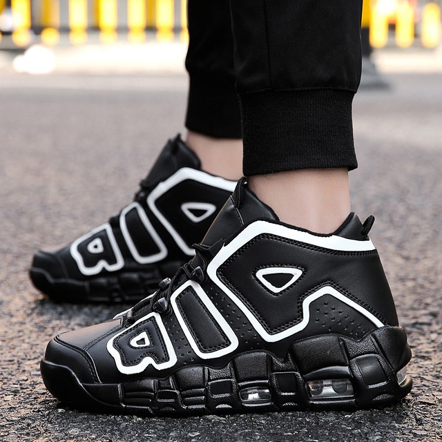 Otoño y el invierno de alta arriba zapatillas de deporte de los hombres al aire libre respirable zapatos de amortiguación cojín de aire de los hombres del deporte zapatos de baloncesto 37-45 4