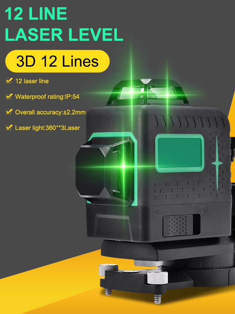 Mini 3D 12 Lines Green Measuring Levels Self Leveling 360 Horizontal And Vertical Cross Super Powerful Green Beam Line tools|Laser Levels| - AliExpress