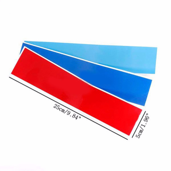 3pcs/set Car Stickers And Decals Carbon Fiber Front Grill Stripes Decals Universal Car Sticker For BMW M3 M5 M6 E46 E39 E60 E90 image