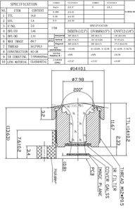 Image 2 - PUAimetis objetivo CCTV HD 1,8mm M12 cámara de video vigilancia 1/4 TTL: 14mm gran angular lentes de cctv