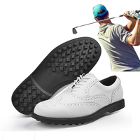 Genuine Leather Golf Shoes Golf Sneakers Men's Waterproof Shoes Nailless Breathable Shoes quality Professional training shoes 45
