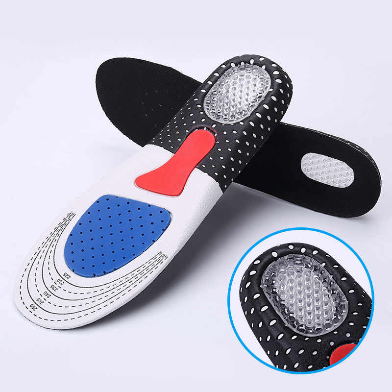 1Pair Free Size Unisex Orthotic Arch Support Sport Shoe Pad Sport Running Gel Insoles Insert Cushion for Men Women Free Shipping