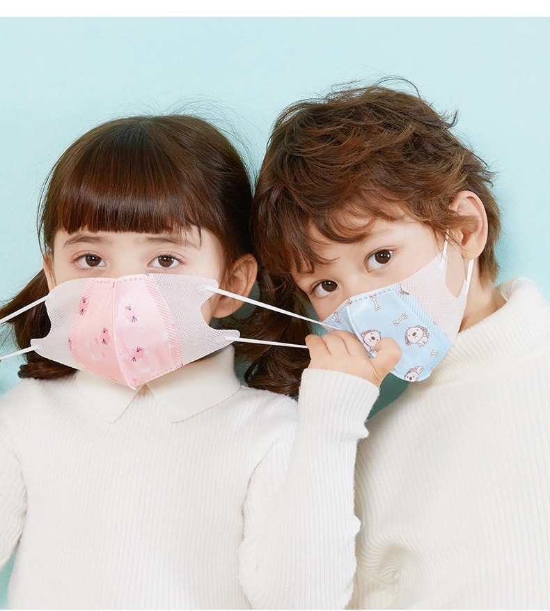 5pcs Ready Stock 3d Kids PM2.5 Disposable Mouth Masks, Professional 4-Layer Thicker Anti Dust Breathable Earloop Face Mask