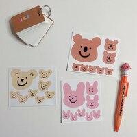 Pegatinas impermeables de Koala con dibujos animados, pegatinas decorativas de papelería, para cuenta de mano, cuaderno, pegatina creativa de ordenador