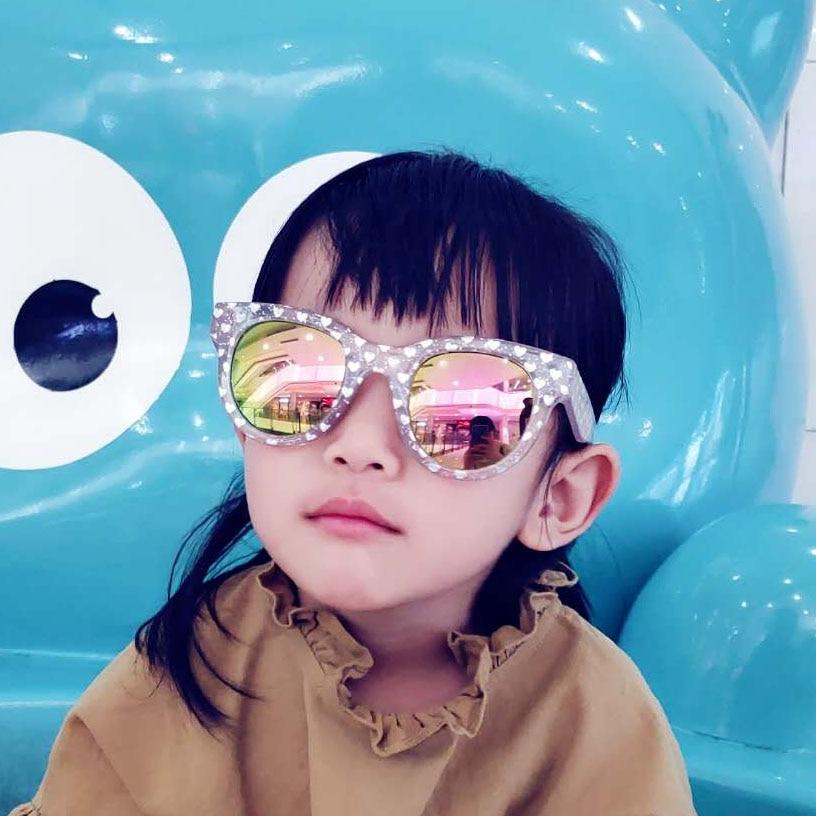 Новые детские солнцезащитные очки, модные маленькие милые Солнцезащитные очки, анти-УФ, Мультяшные солнцезащитные очки