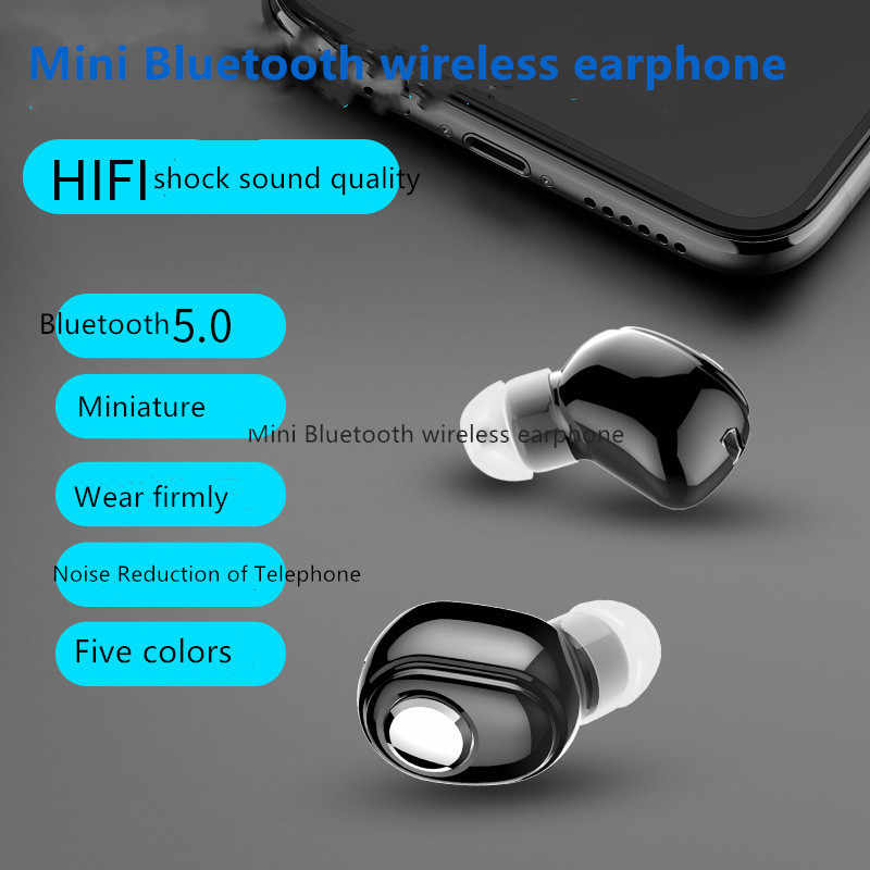 Hot Mini Nirkabel L15 Bluetooth Earphone V5.0 Stereo In-Ear Headset Earbud untuk Olahraga Lari Earbud Earphone untuk Android IOS