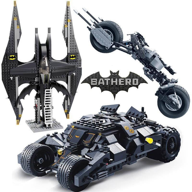 NEW Batman Batmobile Toy Action Figure Bat Car Vehicle Toys Classic DC Tumbler