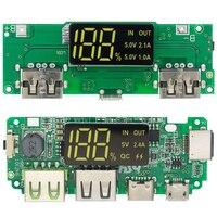 LED Dual USB 5V 2.4A Micro/type-c USB Mobile Power Bank 18650 modulo di ricarica batteria al litio caricabatterie protezione del circuito