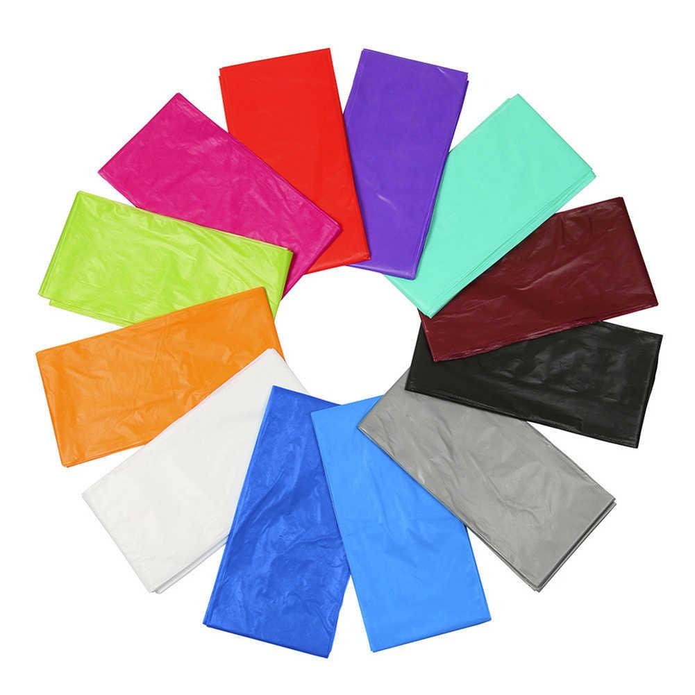 Mantel de plástico desechable de Color sólido para fiesta de cumpleaños, boda, Navidad, cubierta para mesa, mantel rectangular para decoración de escritorio