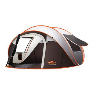 Большая туристическая палатка, автоматическая, мгновенная раскладка, водонепроницаемая, многофункциональная, портативная, для всей семьи