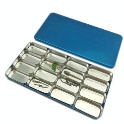 16 rack caixa dental para bur h k arquivo titular bloco esterilizador caso desinfecção endo caixa dental laboratório