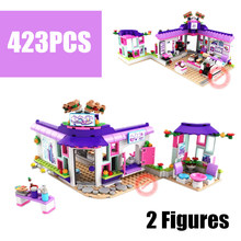 New 423PCS Heartlake Series Fit Legoings Friends House Figures City Diy Building Blocks Bricks Kids Toys for Children Girls Gift стоимость