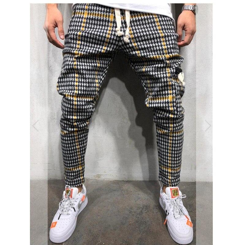 Hot Men's Sweatpants Side Stripe Hip Hop Track Pants
