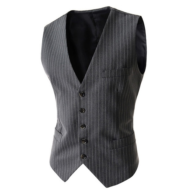 ZOGGA New Brand Men Suit Vest Fashion Wedding Waistcoat Business Casual Waistcoat Slim Fit Solid Vests Size S- XXL Hot Sale