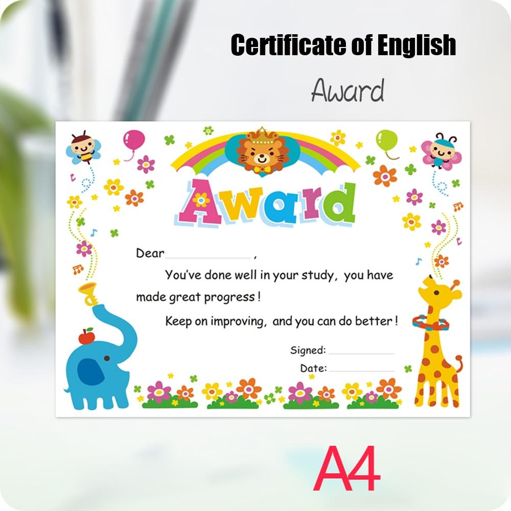 English Certificate Appreciation Letter English Commendation Letter Student Prize Encouragement Certificate Inner Core Creative