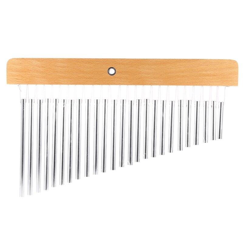 25-Tone Bar Chimes Durable 25 Bars Single-Row Musical Percussion Instrument Suitable For Enhancing Choir Music