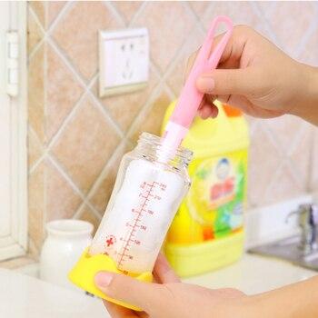 Nettoyeur de bouteilles verre nettoyage | 2 pièces, manche Long, brosse pour tasses, brosse pour bébé, bec verseur tasse, théière en verre, lavage, outil de nettoyage, décontamination, brosse propre