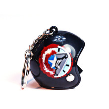Helmets Key Chain Motorcycle Safety Helmet Keychain Men Women Cute Key Holder Captain America Trendy Key Ring for Car Purse Bag 1pc creative helmet key chain zinc alloy motorcycle keychain men and women key ring trendy keyring for car purse bag gift