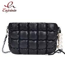 Простая и мягкая модная женская сумка через плечо из искусственной кожи с жемчугом, сумка через плечо, Женская вместительная сумка клатч