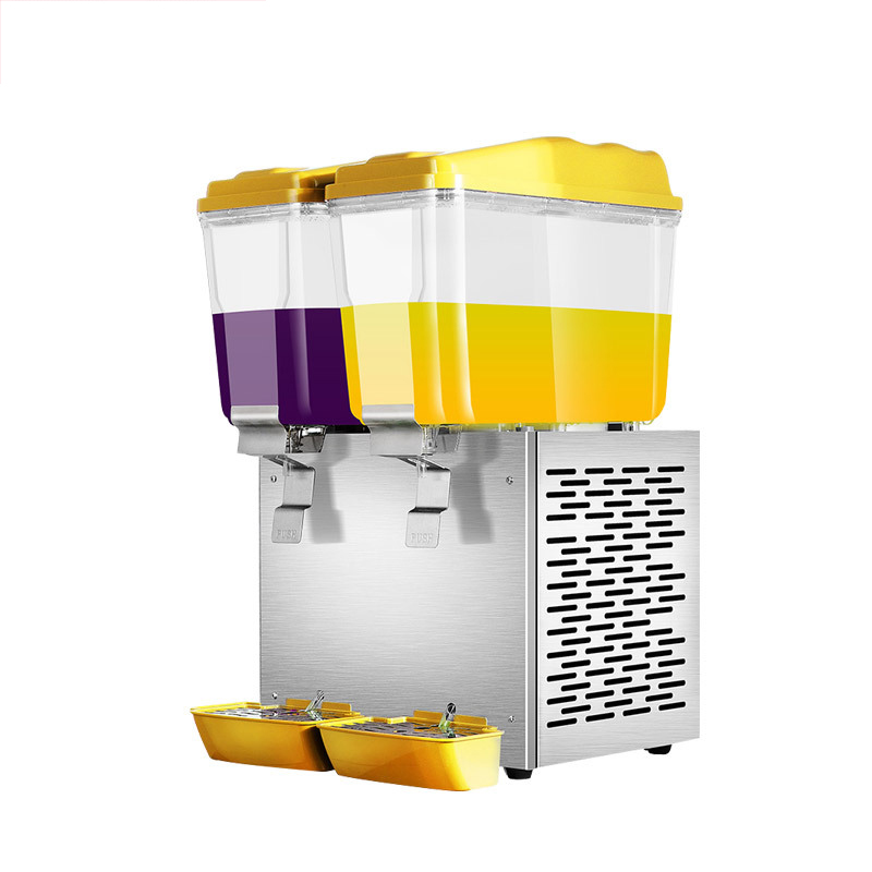 BS-388 Commercial Beverage Machine Transparent Juice Machine Hot And Cold Drinks Automatic Three-cylinder Cold Drink Machine