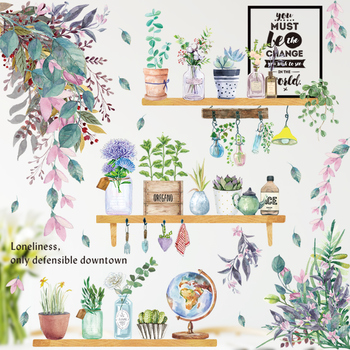 24 styles Plants Series Wall Stickers for Living room Bedroom Green Leaves Removable Wall Decals Vinyl DIY Eco-friendly Murals plants wall stickers green leaves wall decals wall paper diy vinyl murals for bedroom living room kids room wall decoration