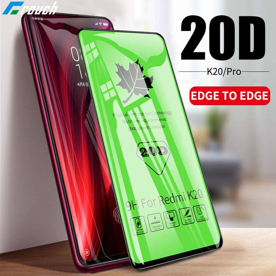 Crouch 20D Full Curved Tempered Glass For Xiaomi Redmi Note 7 Pro Screen Protector Film For Xiaomi Mi 9 Se Mi 8 Lite Phone Glass