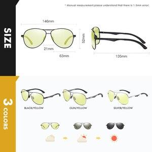 Image 5 - ファッション古典的な航空サングラスメンズレディース偏光フォトクロミックためパイロットサングラスデイナイト眼鏡gafasデ · ソルhombre