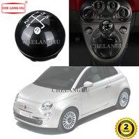 Para Fiat 500 2007 2008 2009 2010 2011 2012 2013 2014 2015 Carro-styling 5 Velocidade do Deslocamento de Engrenagem Vara botão de Nível