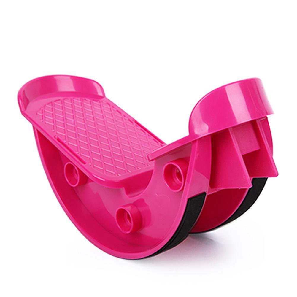 Ножная рокер голеностопная растягивающаяся доска для фиксатор для ног мышечная Растяжка приспособление для растяжки ног Йога фитнес-Спорт педаль массажа - Цвет: Фиолетовый