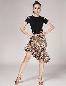 Image 5 - נמר תבואה לטיני Fishtail חצאית למבוגרים נקבה לטיני עיסוק ביצועי תלבושות ריקוד חצי אורך חצאית נשים ריקוד