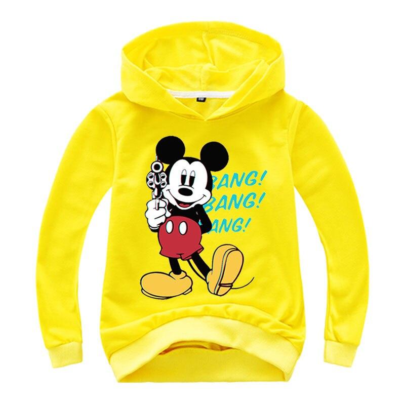 2021 Mickey Sweatshirt Printed Kids Tops For Boys Girls Pullover Hoodies Hip Hop Basic Coat Children's Wear Girls clothes 6