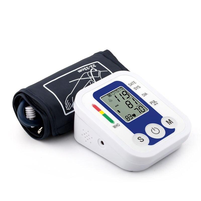 BP Manschette Maschine Hause Automatische Digitale Arm Blutdruck Monitor LCD Display Reden Pulse Rate meter blutdruckmessgerät maschine