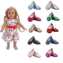 LUCKDOLL 10 Different Colors Shoes Fit 18 Inch American&43 CM Baby Doll Clothes Accessories,Girl's Toys,Generation,Birthday Gift(China)